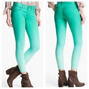 Free People Size 27 Teal Ombré Skinny jeans